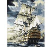 Картина по номерам Идейка Корабль в море 40 х 50 см (арт. КН2710)