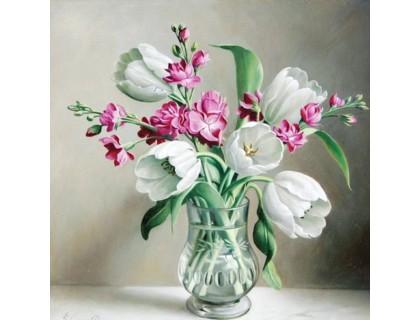 Купить Картина по номерам без коробки Идейка Нежное утро 40 х 40 см (арт. KHO2020)