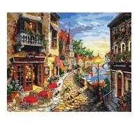 Картина по номерам без коробки Идейка Кафе на набережной 40 х 50 см (арт. KHO2132)