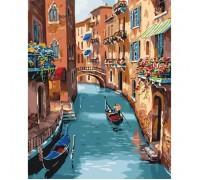 Картина по номерам без коробки Идейка Солнечная Венеция 40 х 50 см (арт. KHO2153)
