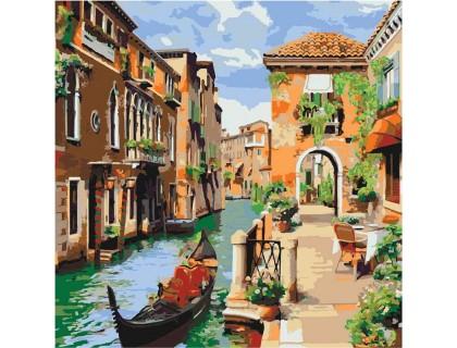Купить Картина по номерам без коробки Идейка Венецианское утро 40 х 40 см (арт. KHO2161)