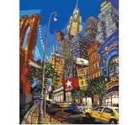 Картина по номерам без коробки Идейка Ночная жизнь Нью-Йорка 40 х 50 см (арт. KHO2172)