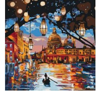 Картина по номерам без коробки Идейка Огни Венеции 40 х 40 см (арт. KHO2183)