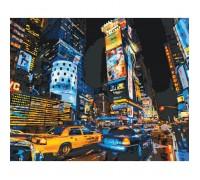 Картина по номерам без коробки Идейка такси Нью-Йорка 40 х 50 см (арт. KHO2185)