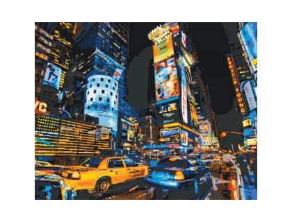 Купить Картина по номерам без коробки Идейка такси Нью-Йорка 40 х 50 см (арт. KHO2185)