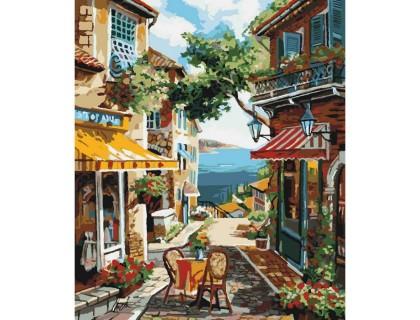 Купить Картина по номерам без коробки Идейка столик на двоих 40 х 50 см (арт. KHO2197)