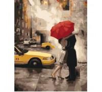 Картина по номерам без коробки Идейка Прощание под дождем 40 х 50 см (арт. KHO2657)