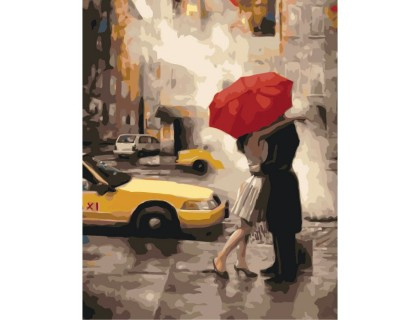 Купить Картина по номерам без коробки Идейка Прощание под дождем 40 х 50 см (арт. KHO2657)