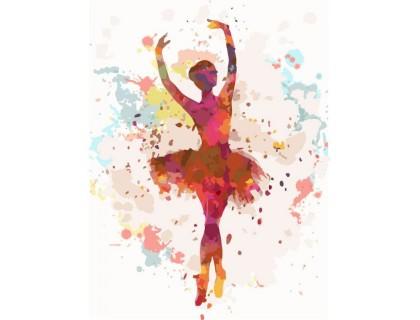Купить Картина по номерам без коробки Идейка Танцующая балерина 30 х 40 см (арт. KHO2672)