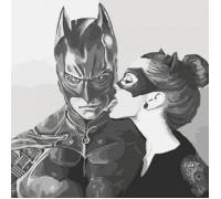 Картина по номерам без коробки Идейка Тёмный поцелуй 40 х 40 см (арт. KHO2695)