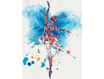 Купить Картина по номерам без коробки Идейка Парящая балерина 30 х 40 см (арт. KHO2696)