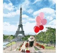 Картина по номерам без коробки Идейка Долгожданный Париж 40 х 40 см (арт. KHO2699)