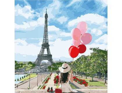 Купить Картина по номерам без коробки Идейка Долгожданный Париж 40 х 40 см (арт. KHO2699)