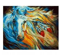 Картина по номерам без коробки Идейка Огненая Галия 40 х 50 см (арт. KHO4014)