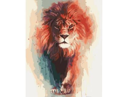 Купить Картина по номерам без коробки Идейка Король Лев 40 х 50 см (арт. KHO4017)