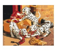 Картина по номерам без коробки Идейка Шаловливые далматинцы 40 х 50 см (арт. KHO4053)