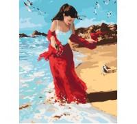 Картина по номерам без коробки Идейка Девушка на набережной 40 х 50 см (арт. KHO4504)
