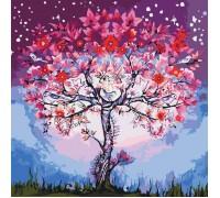 Картина по номерам без коробки Идейка Цветочное дерево 40 х 40 см (арт. KHO5012)