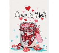 Картина по номерам без коробки Идейка Сладкая любовь 30 х 40 см (арт. KHO5526)