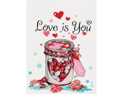 Купить Картина по номерам без коробки Идейка Сладкая любовь 30 х 40 см (арт. KHO5526)