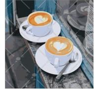 Картина по номерам без коробки Идейка Кофе с любовью 40 х 40 см (арт. КНО5537)