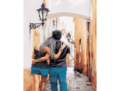 Купить Картина по номерам ArtStory С любимым в городе 40 х 50 см AS0429