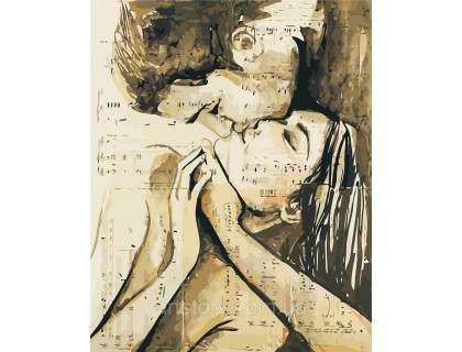 Купить Картина по номерам ArtStory Влюблённая пара AS0431 40 х 50 см
