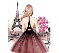 Картина по номерам ArtStory Девушка в Париже AS0442 40 х 50 см