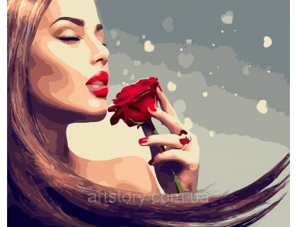 Купить Картина по номерам ArtStory Аромат розы AS0449 40 х 50 см