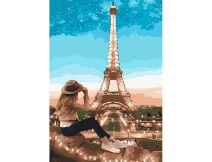 Купить Картина по номерам Идейка Мой прекрасный Париж 35 х 50 см (арт. КН2693)