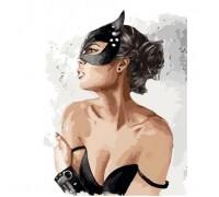 Картина по номерам Идейка Женщина кошка 40 х 50 см (арт. КН4510)