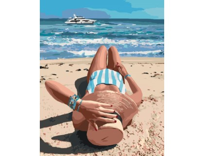 Купить Картина по номерам Идейка Долгожданный отпуск 40 х 50 см (арт. КН4515)