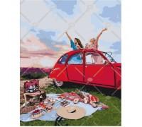 Картина по номерам Пикник с подружкой КН4535 40 х 50 см