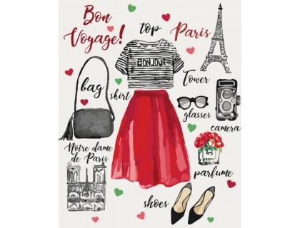 Купить Картина по номерам Идейка Love is Paris КН5527 40 х 50 см