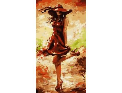 Купить Картина по номерам без коробки Идейка Утонченная незнакомка 27 х 50 см (арт. КНО2639)