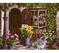 Картина по номерам Идейка КН017 Уютный цветочный магазин 40 х 50 см