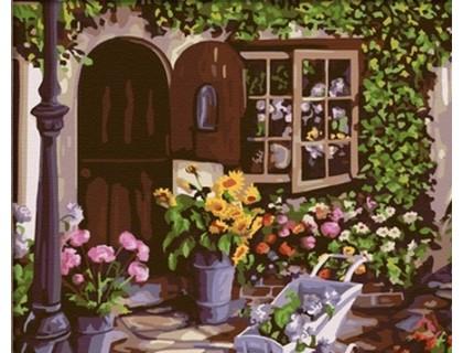 Купить Картина по номерам Идейка КН017 Уютный цветочный магазин 40 х 50 см