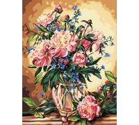 Картина по номерам Идейка (КН081) Роскошные пионы 40 х 50 см