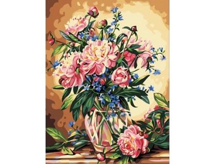 Купить Картина по номерам Идейка (КН081) Роскошные пионы 40 х 50 см