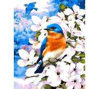 Картина по номерам ArtStory  Синичка на ветке AS0052 40 х 50 см