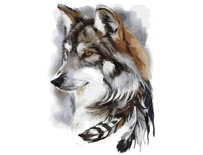 Купить Картина по номерам ArtStory Волк AS0169 40 х 50 см