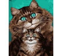 Картина по номерам ArtStory Смешные котики AS0270 40 х 50 см