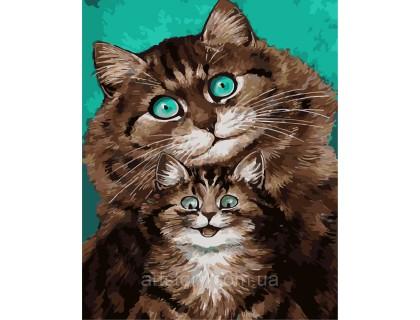 Купить Картина по номерам ArtStory Смешные котики AS0270 40 х 50 см