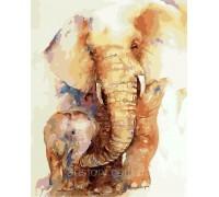 Картина по номерам ArtStory Слонёнок с мамой AS0275 40 х 50 см