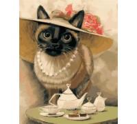 Картина по номерам ArtStory Кошечка в шляпке AS0391 40 х 50 см