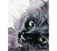 Картина по номерам ArtStory  Чёрная кошечка AS0416 40 х 50 см