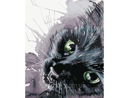 Купить Картина по номерам ArtStory  Чёрная кошечка AS0416 40 х 50 см