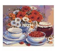 Картина по номерам Чайный натюрморт КН2029 40 х 50 см
