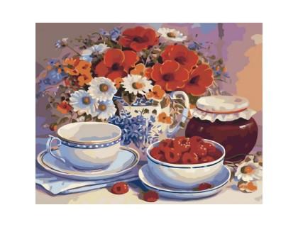 Купить Картина по номерам Чайный натюрморт КН2029 40 х 50 см
