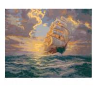 Картина по номерам Рассвет под парусами КН2715 40 х 50 см